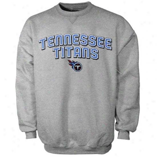 Tennessee Titan Hoodies : Reebok Tennnessee Titan Ash Double Arch Crew Hoodies