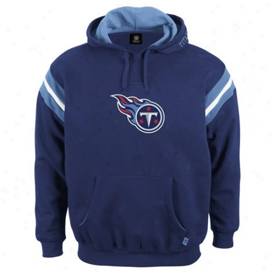 Tennessee Titan Hoody : Tennessee Titan Navy Blue Pumped Up Hoody