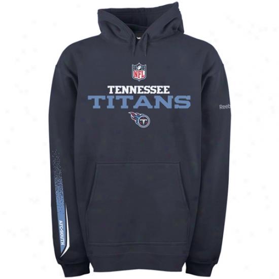 Tennessee Titan Hoodys : Reebok Tebnessee Titan Navy Blue Optimus Hoodys