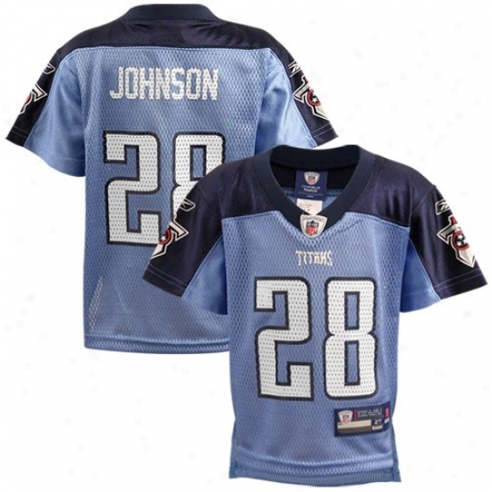 Tennessee Titan eJrsey : Reebok Nfl Equipment Tennessee Titan #28 Chris Johnson Toddler Light Blue Replica Football Jersey