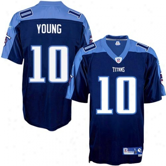 Tennessee Titan Jerseys : Reebok Nfl Equipment Tennessee Titan #10 Vince Young Ships Blue Premier Tackle Twill Football Jerseys