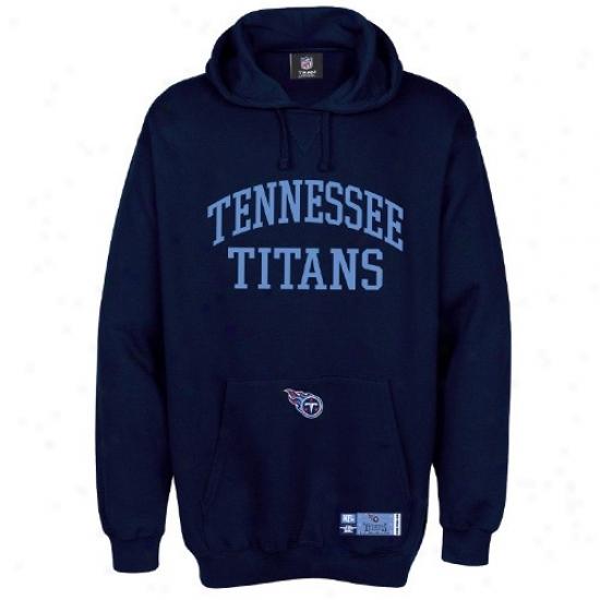 Tennessee Titan Stuff: Tennessee Titan Navy Blue Classic Hoody Sweatshirt