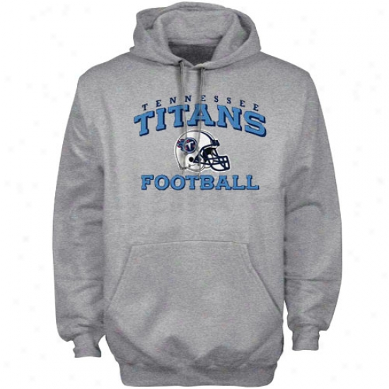 Tennessee Titan Sweat Shirst : Reebok Tennessee Titan Ash Stacked Helmet Sweat Shirts