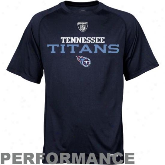 Tennessee Titan T Shirt : Reebok Tennessee Titan Navy Blue Prime Speedwick Playing Top