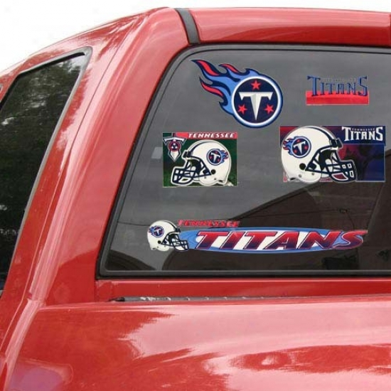 Tennessee Titans 11'' X 17'' Window Clings Sheet