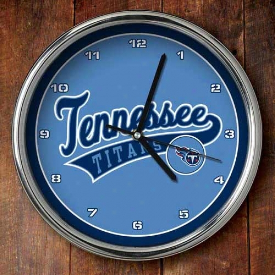 Tenndssee Titans 12'' Chrome Clock