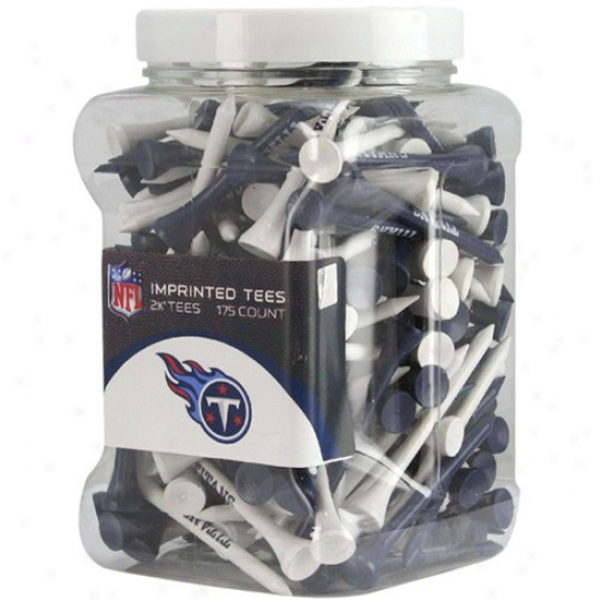 Tennessee Titans 175-pack Navy Blue-white Imprinted Golf Tees