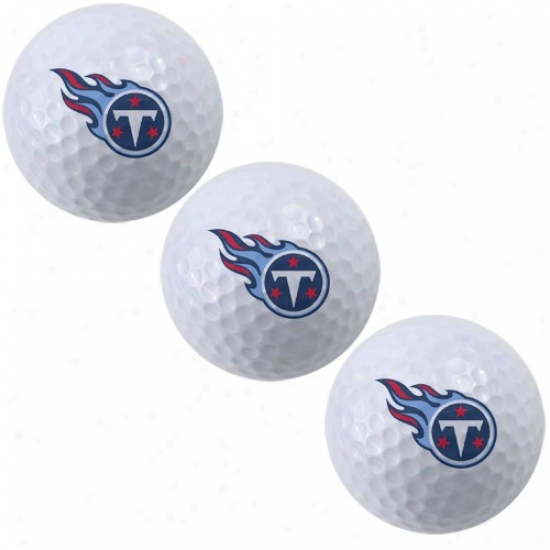 Tennessee Titans 3-pack Of Golf Balls