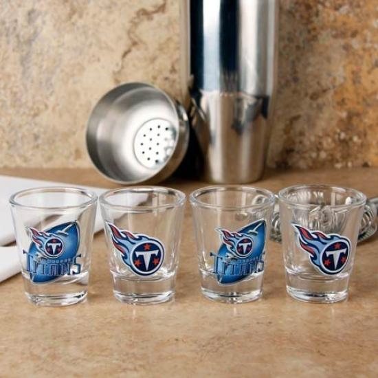 Tennessee Titans 4-pack Enhanced Hi-def Design Shot Glass Set