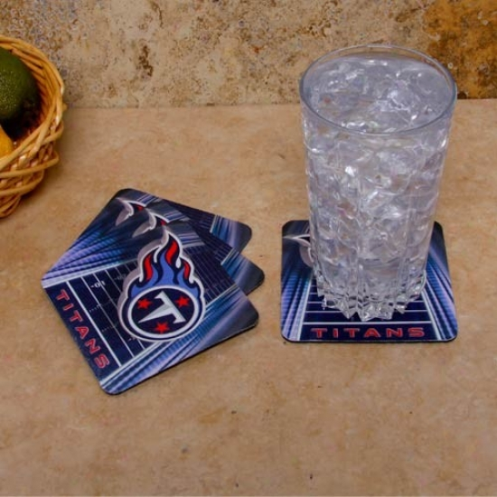 Tennessee Titans 4-pack Sublimated Logo Neoprene Coaster Set
