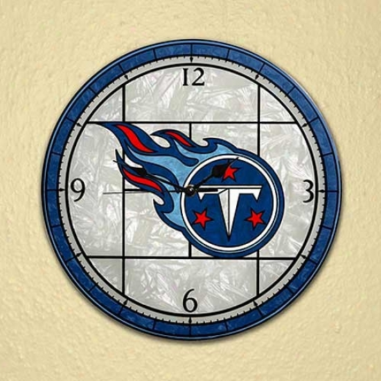 Tennessee Titans Art-glass Clock