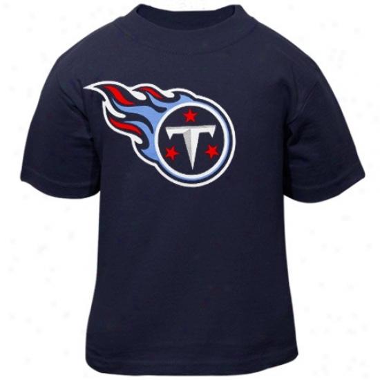 Tennessee Titans Attire: Reebok Tennessee Titans Toddler Navy Blue Primary Logo T-xhirt