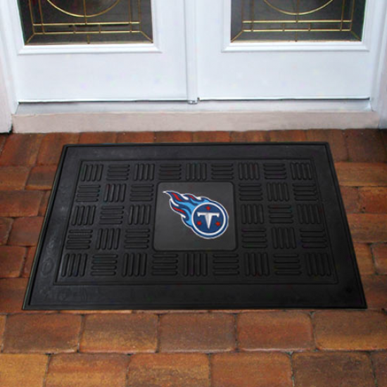 Tennsesee Titans Black Team Logo Rubber Mat