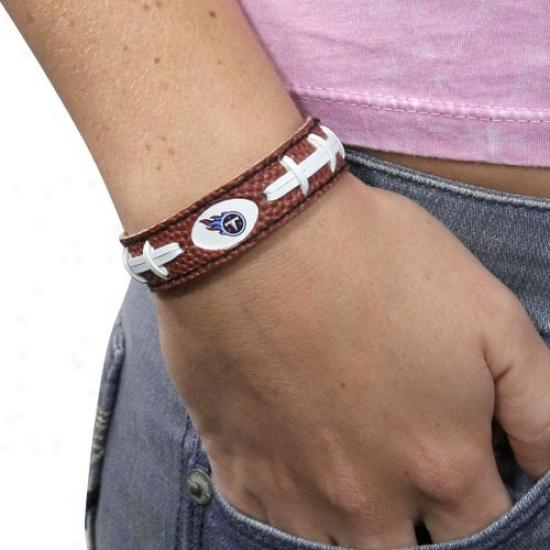 Tenbessee Titans Brown Football Bracelet