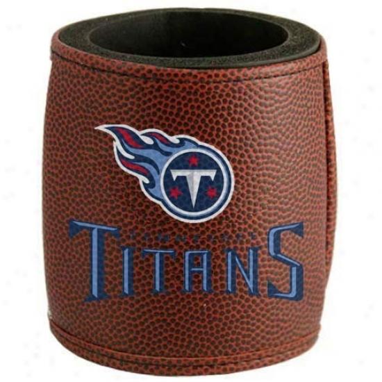 Tennesaee Titans Brown Football Can Coolie