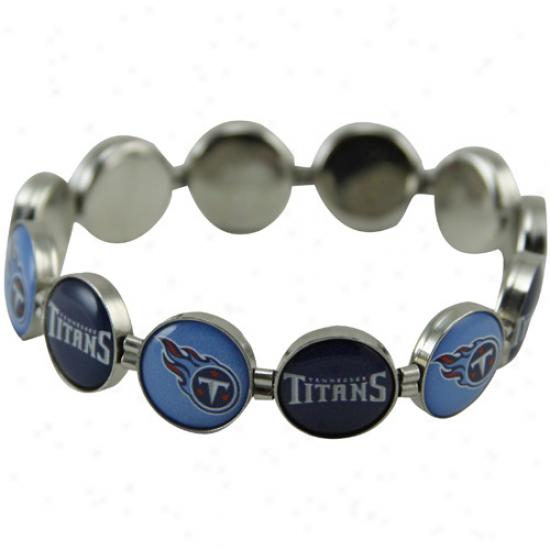 Tennessee Titans Enamel Charm Beaded Bracelet