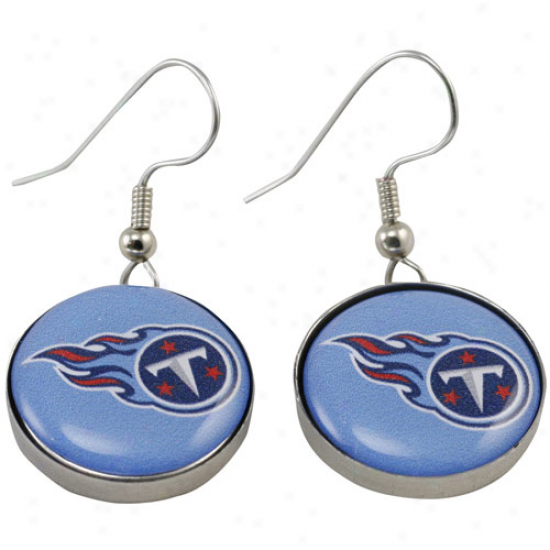 Tennessee Titans Enamel Logo Charm Drop Earrings