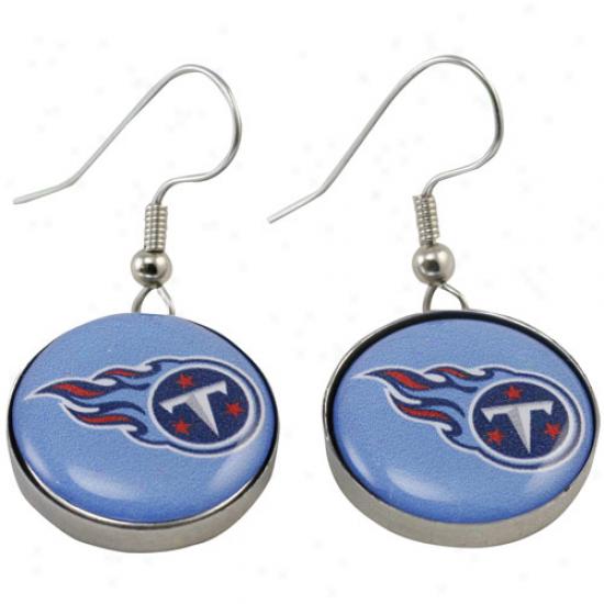 Tennessee Titans Enamel Logo Charm Drop Earrings