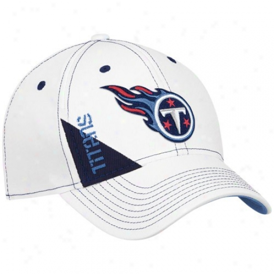Tennessee Titans Hat   Reebok Tennessee Titans Youth White Official 2010  Draft Day Flex Fit Cardinal s 44368d54c