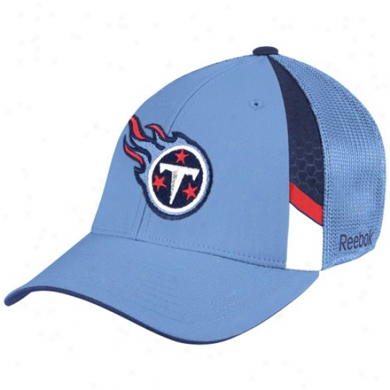 Tennessee Titans Cardinal's office : Reebok Tennessee Titans Light Blue  Draft Day Flex Fit Hat