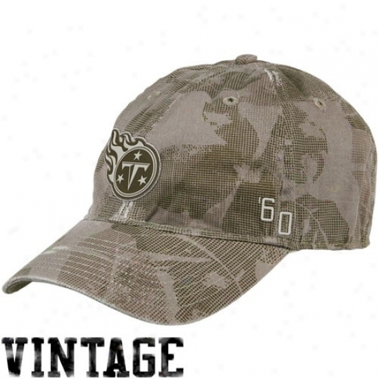 Tennessee Titans Hats : Reebok Tennessee Titans Natural Camo Concrete Flex Fit Slouch Hats