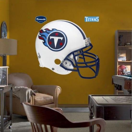 Tennessee Titans Helmet Fathead Wall Sticker
