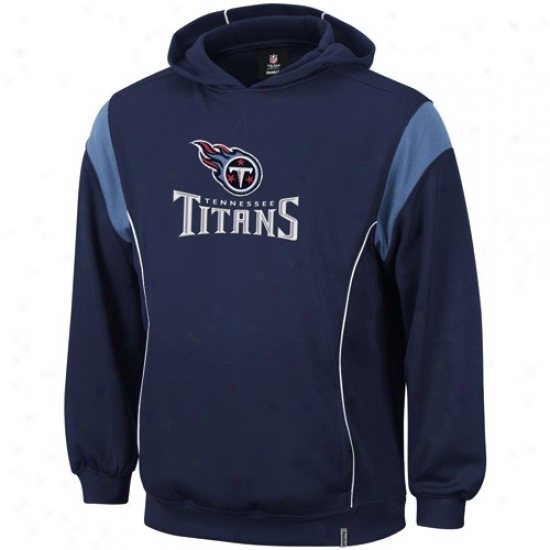 Tennessee Titans Hoodies : Reebok Tennessee Titans Navy Blue Showboat Hoodies