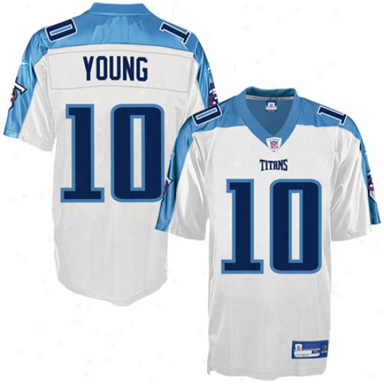 Tennessee Titans Jersey : Reebok Nfl Equipment Tennessee Titans #10 Vince Young White Replica Jersey