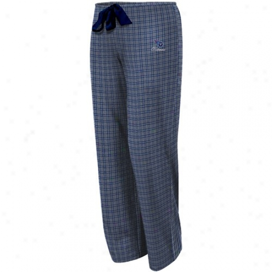 Tennessee Titans Ladies Navy Blue Plaid Monday Night Football Pajama Pants