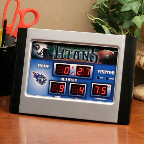 Tennesswe Titans Led Scoreboard Alarm Clock