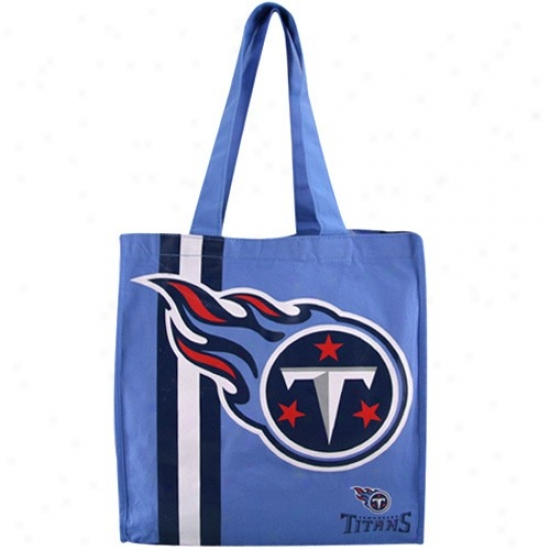 Tennessee Titans Light Blue Team Stripe Canvas Tote