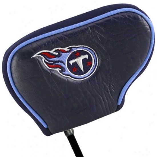 Tennessee Titans Navy Blue Blade Putter Cover