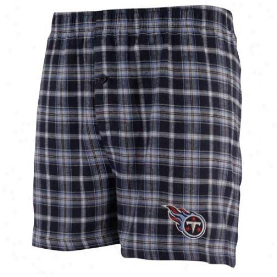 Tennessee Titana Navy Blue Fly Pattern Shorts
