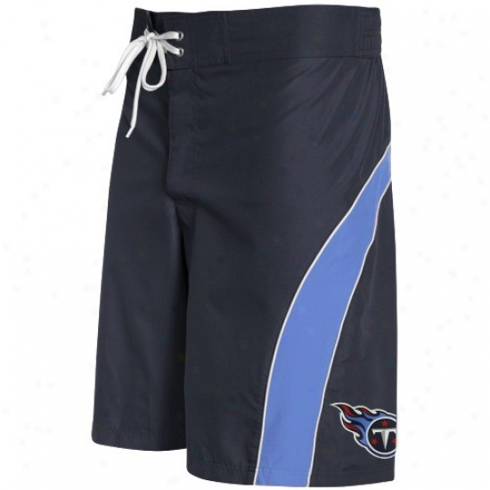 Tennessee Titans Navy Blue-light Blue Collr Block Boardshort