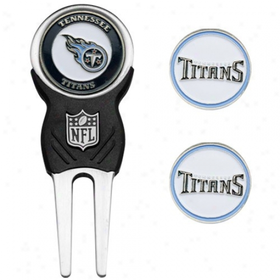 Tennessee TitansN fl Divot Tool & Ball Marker Set