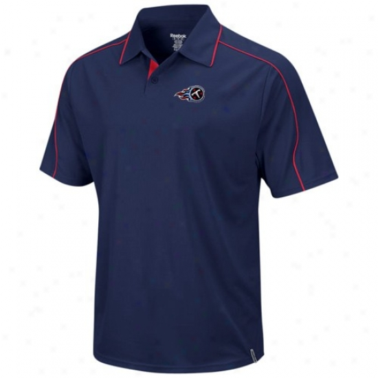 Tennessee Titans Polo : Reebok Tennessee Titans Navy Blue Active Polo