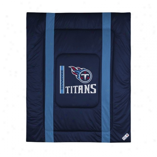 Tennessee Titans Queen/full Size Sideline Comforter