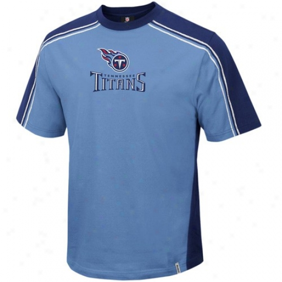 Tennessee Titans Tee : Reebok Trnnessee Titans Light Blue Upgrade Tee