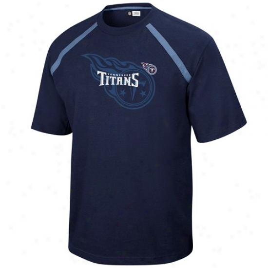 Tennessee Titans Tee : Tennessee Titans Navy Blue Victory Gear Tee