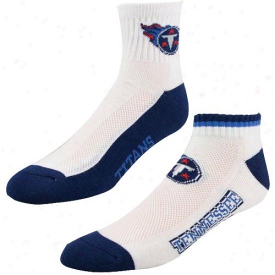 Tennesssee Titans White-navu Blue Two-pack Socks