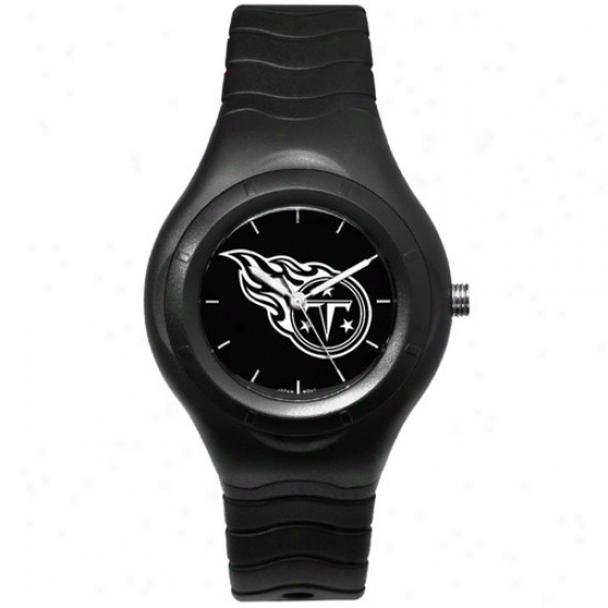 Tennessee Titanw Wrist Watch : Tennessee Titans Black Shadow Team Logo Sporf Wrist Watch