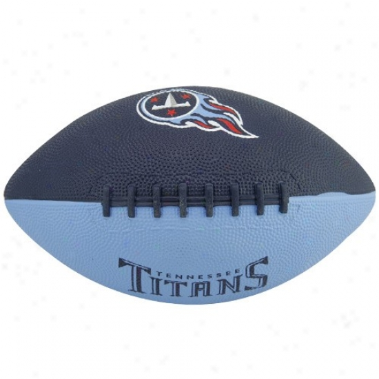 Tennessee Titans Youth Navy Blue-light Blue Hail Mary Rubber Football
