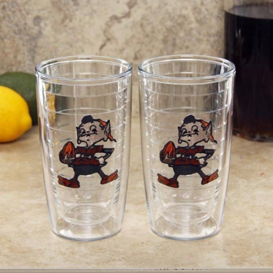 Tervis Tumbler lCeveland Browns 2-pack 16oz. Team Logo Tumbler Cups