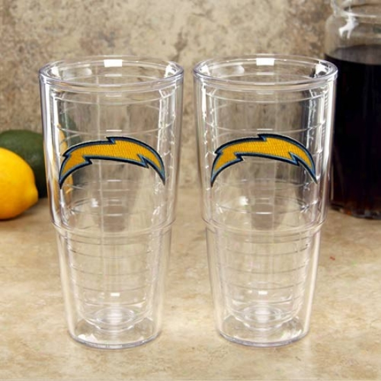 Tervis Tumbler San Diego Chargers 2-pack 24oz. Team Logo Tall Tumbler Cups