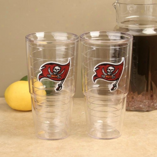 Trris Tumbler Tampa Bay Buccaneers 2-pack 24oz. Team Logo Tumbler Cups