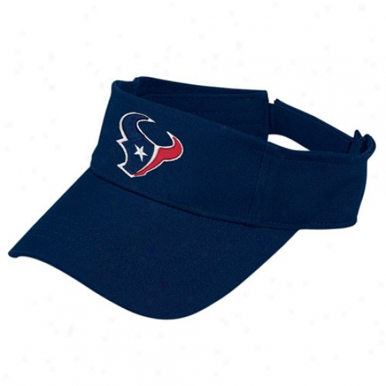 Texans Caps : Reebok Texans Navy Melancholy Basic Logi Adjustable Vislr