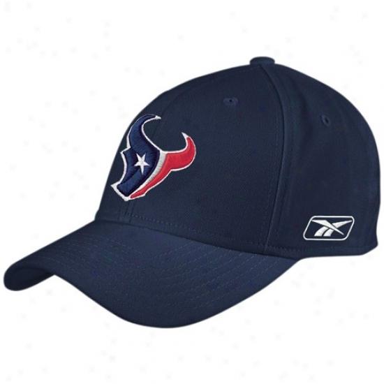Texans Gear: Reebok Texans Navy Blue Coaches Flex Hat