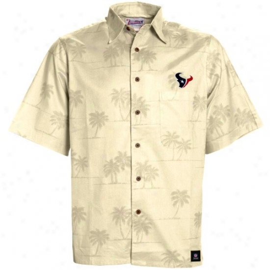 Texans Golf Shirts : Reyn Spooner Tesans Natural Scenic Button-up Shirt