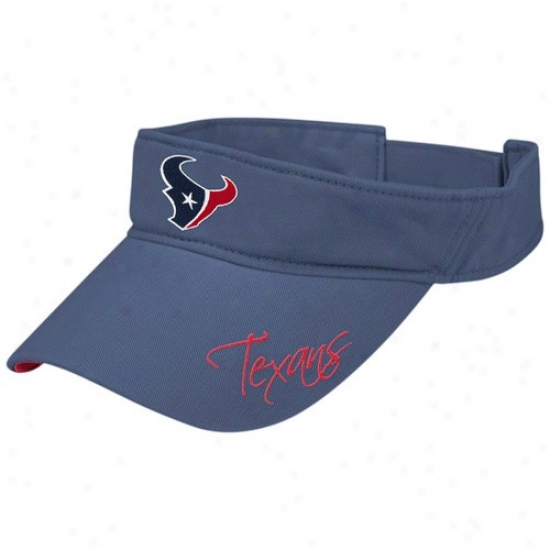 Texans Hat : Reebok Texans Ladies Navy Blue Charge Visor