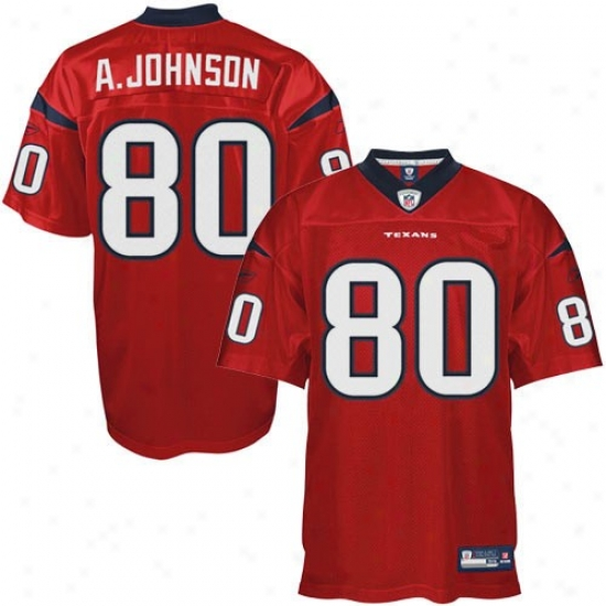 Texans Jersey : Rewbok Andre Johnson Texans Premier Tackle Twill Jersey - Red Alternate